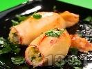 Рецепта Пълнени калмари с картофено пюре на фурна